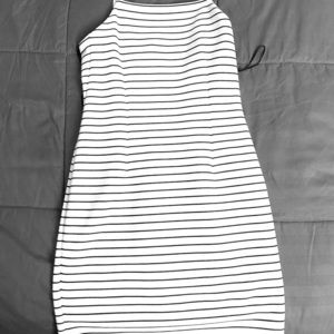 Stripped mini summer dress
